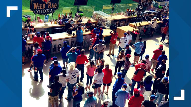 A look inside 100% capacity at Rangers Opening Day