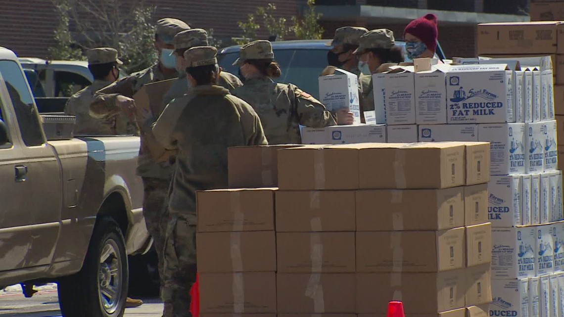 North Texas Food Bank hosts food drive to help feed 700 families following winter storm