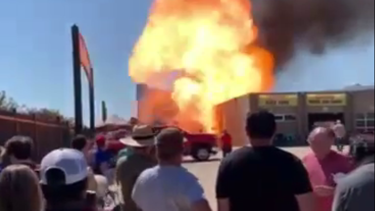 Fire at Texas Motor Speedway started by propane tank explosion, officials say