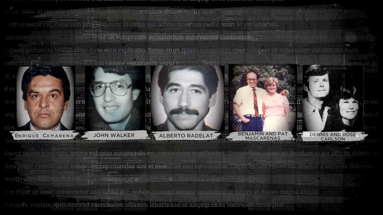 The six Americans murdered in Mexico in late 1984 and early 1985. Albert Radelat, a dental student from Fort Worth, was studying at the University of Guadalajara.