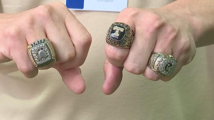 Steven Morgan's state football rings