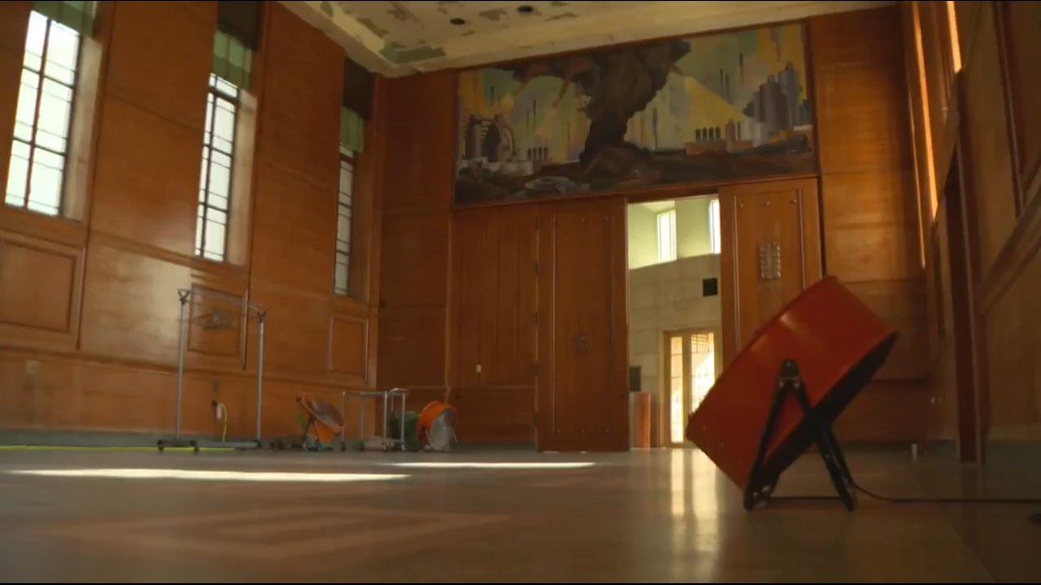 A museum's worst nightmare: Dallas to restore Hall of State at Fair Park after pipes burst in historic winter storm