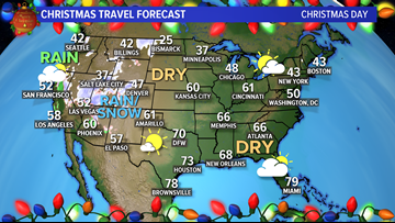 A white Christmas in Dallas-Fort Worth? Not likely here, or for much of the country