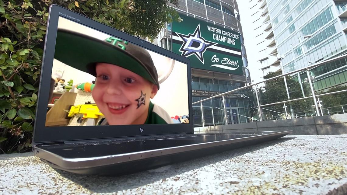 5-year-old Stars fan celebrates big win at home