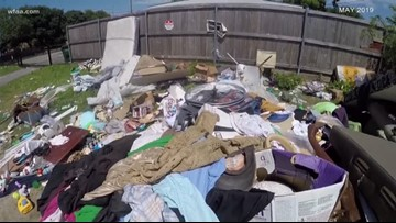 'It looks pitiful': Illegal dumping eyesore finally removed in Bishop Arts neighborhood
