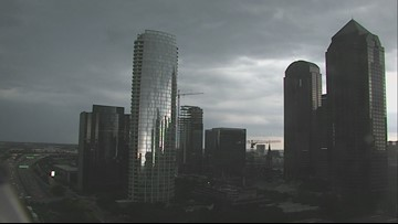 WFAA Tower Cam storm time lapse on Sunday June 9, 2019