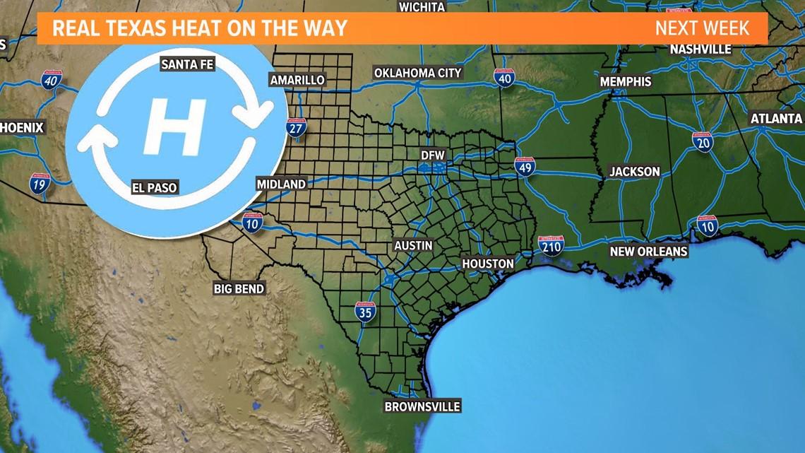 Texas Heat On the Way