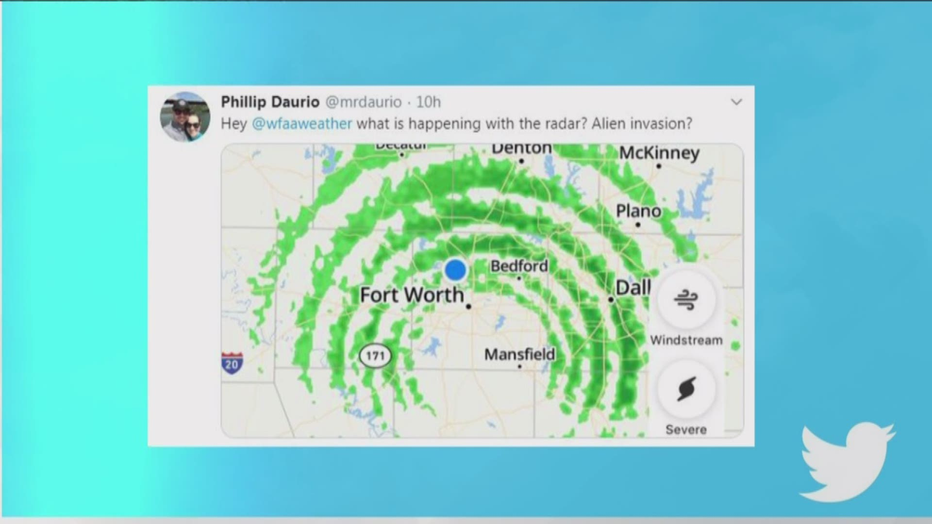 Aliens Just What Exactly Was On The Weather Radar Saturday Night Wfaa Com