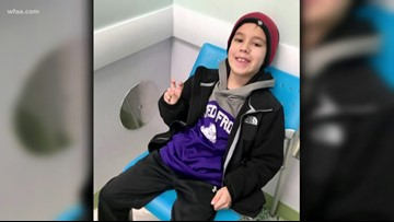Former Cowboys, others help grant wish for Fort Worth boy battling cancer