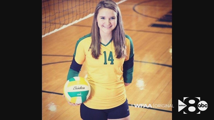 Taylor Orcutt played volleyball growing up