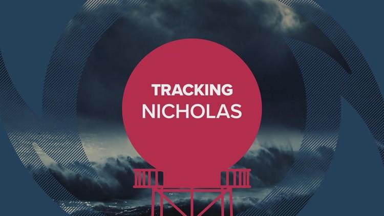 Tracking Nicholas: Landfall expected overnight