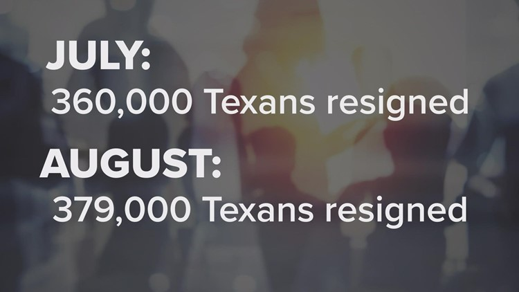 Texas is a quitter hot spot: 739,000 Texans quitting their jobs in just two months