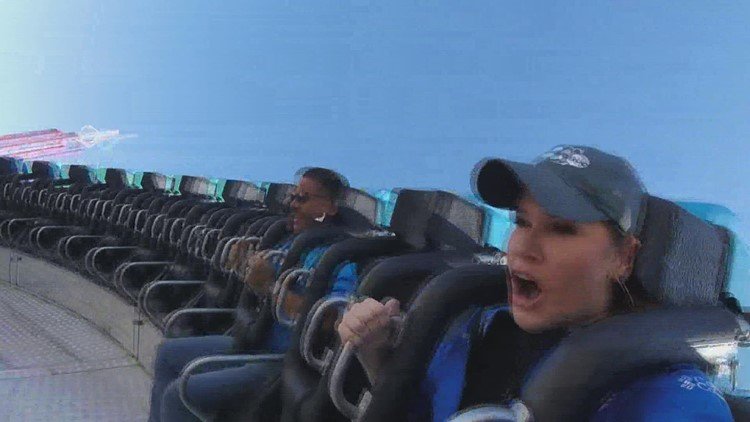 Buckle up! Checking out a thrill ride at the State Fair of Texas