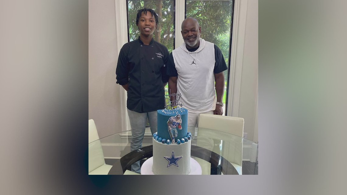 Dallas Cowboys Hall of Famer Emmitt Smith from local pastry student he found on TikTok
