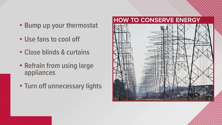 Here's how to conserve energy tonight after ERCOT warns it may enter emergency conditions