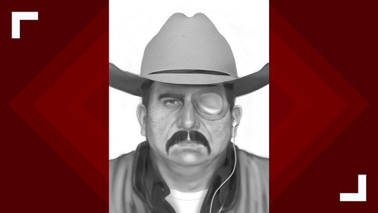 Rendering of bank robbery suspect in disguise