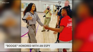 Paschal High School's Danielle 'Boogie' Wilson honored with an ESPY
