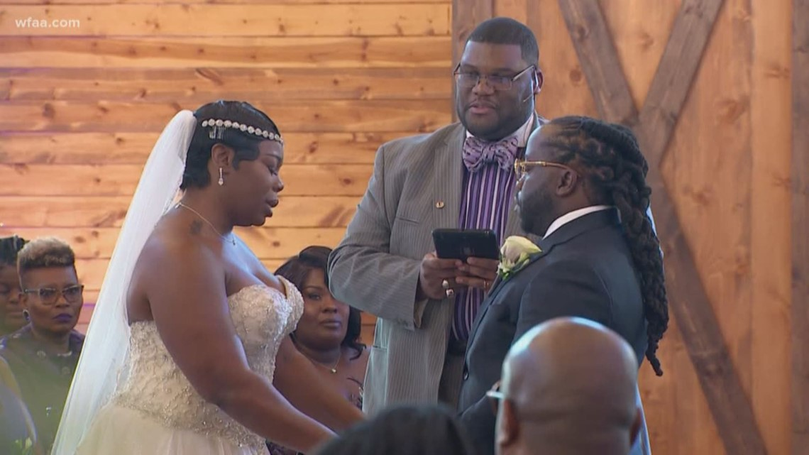 A survivor and a bride: Nikitia Ferguson gets married thanks to Society of Wedding Professionals