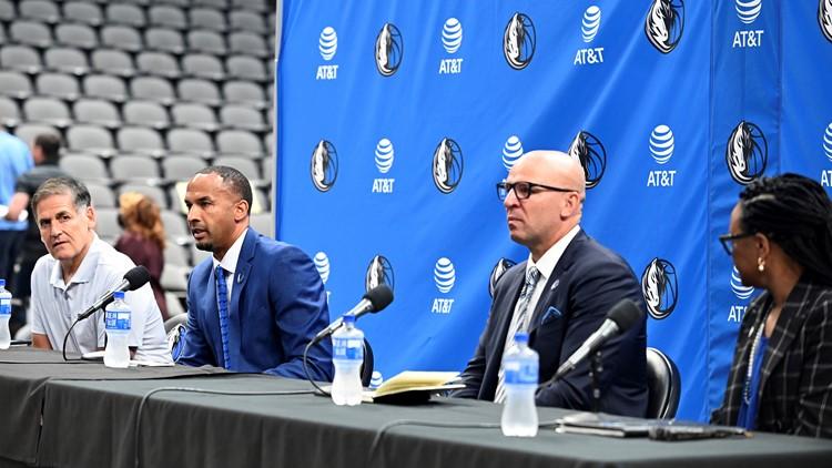 Dallas Mavericks finally introduce Jason Kidd as new head coach, Nico Harrison as GM