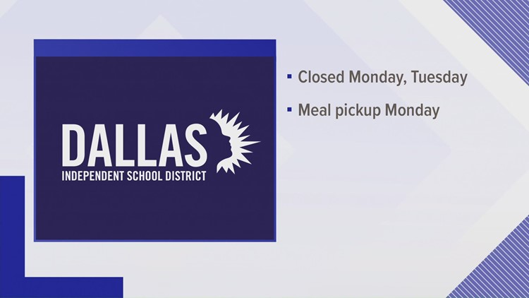Largest school districts in North Texas to remain closed Monday and Tuesday
