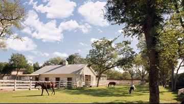 There's an equestrian estate for sale in the heart of Preston Hollow