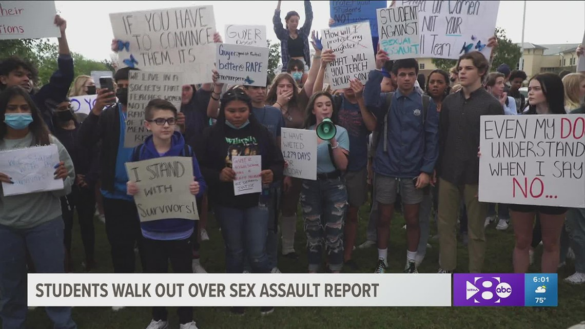 'Enough is enough': Denton Guyer students walk out in protest after report of sexual assault