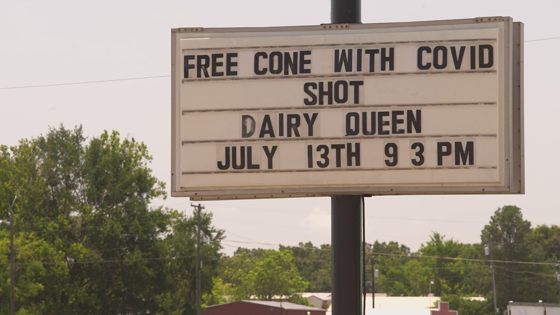Free ice cream if you get the vaccine: Rural Texas offers incentives to improve vaccination efforts