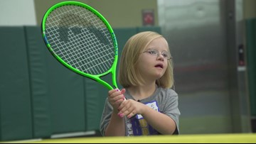 This North Texas tennis program teaches more than just a sport to young athletes with Down syndrome