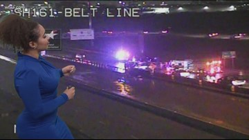 I-20 WB frontage roads shut down at Bowman