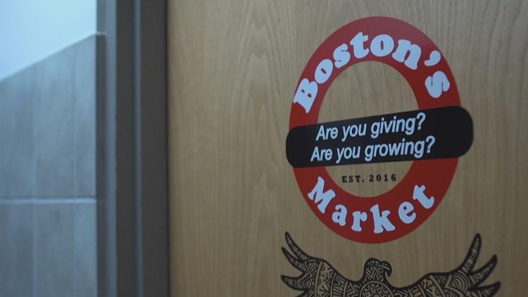 Boston's market door
