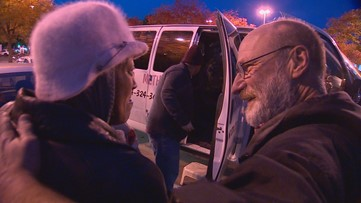 On a frigid night in Dallas, one man who used to be homeless ushered people to shelter