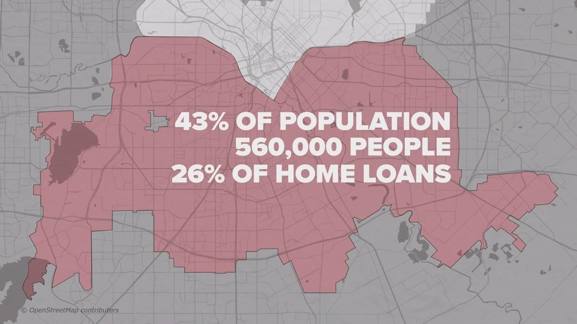 Analysis shows bank branches in Southern Dallas take deposits, but make few loans