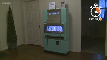 Up in 60: High-quality art sold from converted cigarette vending machine