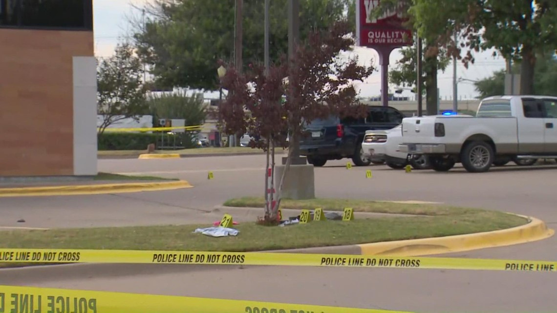 Woman dead, man hospitalized following disturbance and officer shooting near Allen Wendy's