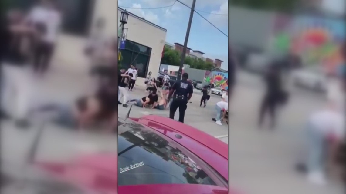 RAW: Cellphone video shows Dallas police officer punching man outside Deep Ellum bar