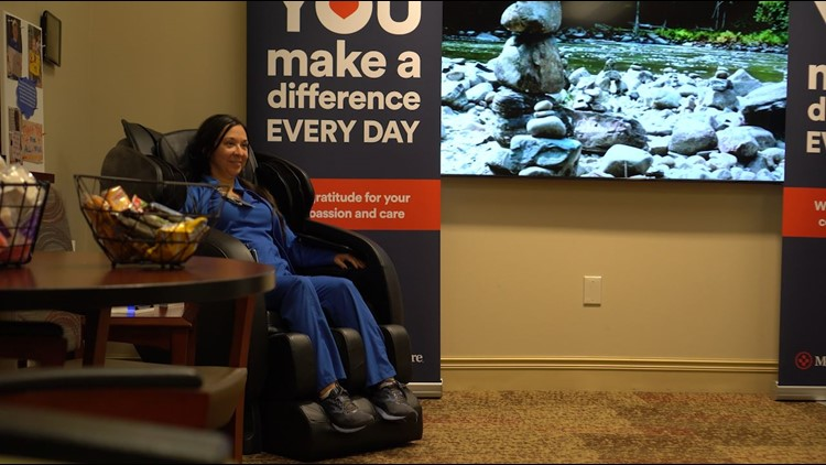 Thank you, nurses: Conference room converted to lounge for Fort Worth Medical City Alliance staff