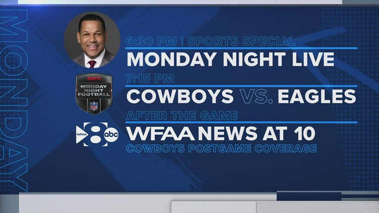 Cowboys-Eagles for Monday Night Football on WFAA
