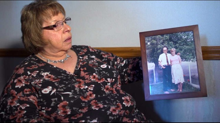 Pat Romero, of Ely, Nevada, holds up a picture of her brother, Benjamin Mascarenas.