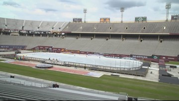 What's the rain plan for the 2020 Bridgestone NHL Winter Classic?