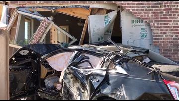 DPS troopers investigate car crashed into house in McKinney