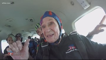 Jumping at an amazing opportunity, Dallas woman celebrates 90th birthday with skydiving