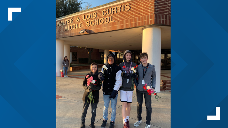 These boys are spreading kindness around their middle school
