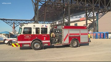 Sparks from welding led to fire at Globe Life Field, investigators say