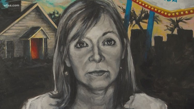 Honoring shooting victims through paintings