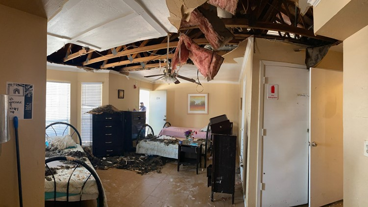 Irving domestic violence shelter asks for donations after pipes burst, ceiling caves in