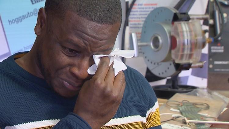 Immanuel Harris got emotional when talking about 16-year-old Gavin