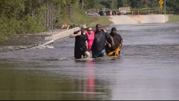 'It's deadly'   Couple nearly drowns walking through NC Florence floodwaters