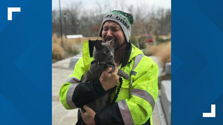 Georgia man reunited with cat he lost at Ohio truck stop back in July