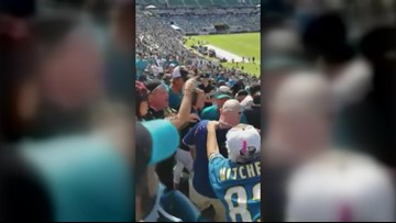 WATCH | Texans fan sucker punched by Jags fan during game