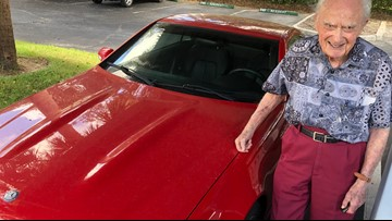 At 106, convertible owner still loves the rush of the gas pedal